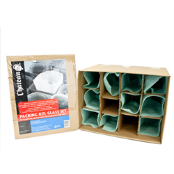 Glass Pack - Fits 1.5 Cube Box (12 Pouches + 1 Cell Divider)
