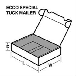Mailer, Die-Cut, White, 6 x 3-5/8 x 2-1/8  50/Bdl
