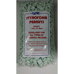 Packing Foam, Styrene Procushioning (Peanuts) 1Cu.Ft. Retail Bag