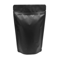 "Pouch, Stand-up, Food, Foil, Black, 6""x9"" +2.58"" 4.3mil (1000/pkg)"