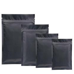 """Pouch, Flat, Food, Foil, Black matte, 2.5""""x4.5""""  4.3mil (1000/pkg)"""