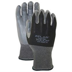 Gloves, Atlas 380, Black Hawk, Nylon Nitrile, Blk/Grey (LG) (6/Pr)