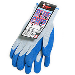 "Entry Level Gloves, Poly/Cotton Knit w/Rubber Latex Palm ""Blue Chip"""