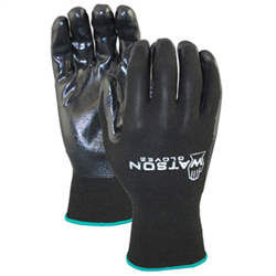 "Foam Nitrile Coated Gloves, ""Stealth"""