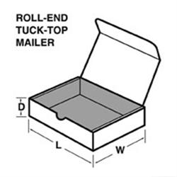 Mailer, Die-Cut, White, 7-1/2 X 3-3/4 X 2-1/4, 50/bdl - AutoR