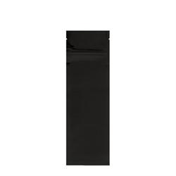 "Pouch, Flat, Food, Foil, Black Gloss 2.5"" x 9"" (1000/pkg)"