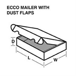 Mailer, Die-Cut, White, 9 X 6 X 1 (50-3150)