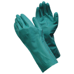 "Nitrile Chemical Resistant Gloves, 15mil, 12"" Gauntlet (State Size)"